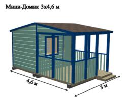 """Садовый мобильный домик 3х4,6м """"Лилль"""""""